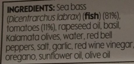2 Butterflied Sea Bass with Tomato & Olive - Ingredients - en