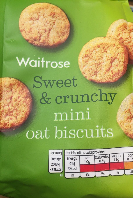 Waitrose Mini Oat Biscuits - Product - en