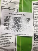 Waitrose Mini Oat Biscuits - Ingredients - en