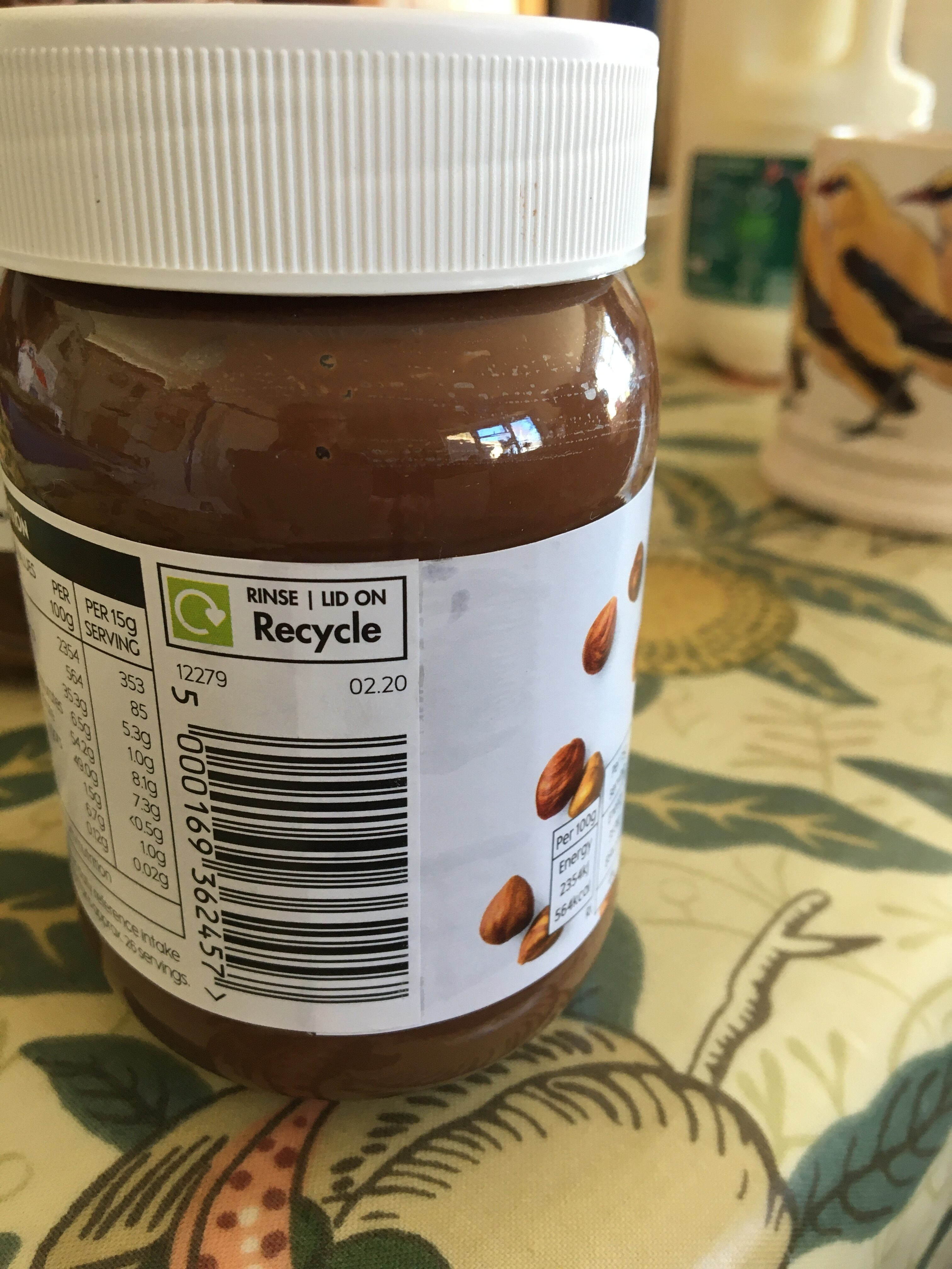 Hazelnut chocolate spread - Instruction de recyclage et/ou informations d'emballage - en
