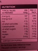 Paella - Nutrition facts - en