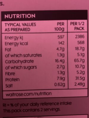 Paella - Nutrition facts