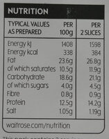 Black pudding slices - Nutrition facts - en