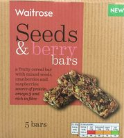 Seeds & berry bars - Product