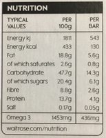Seeds & berry bars - Nutrition facts