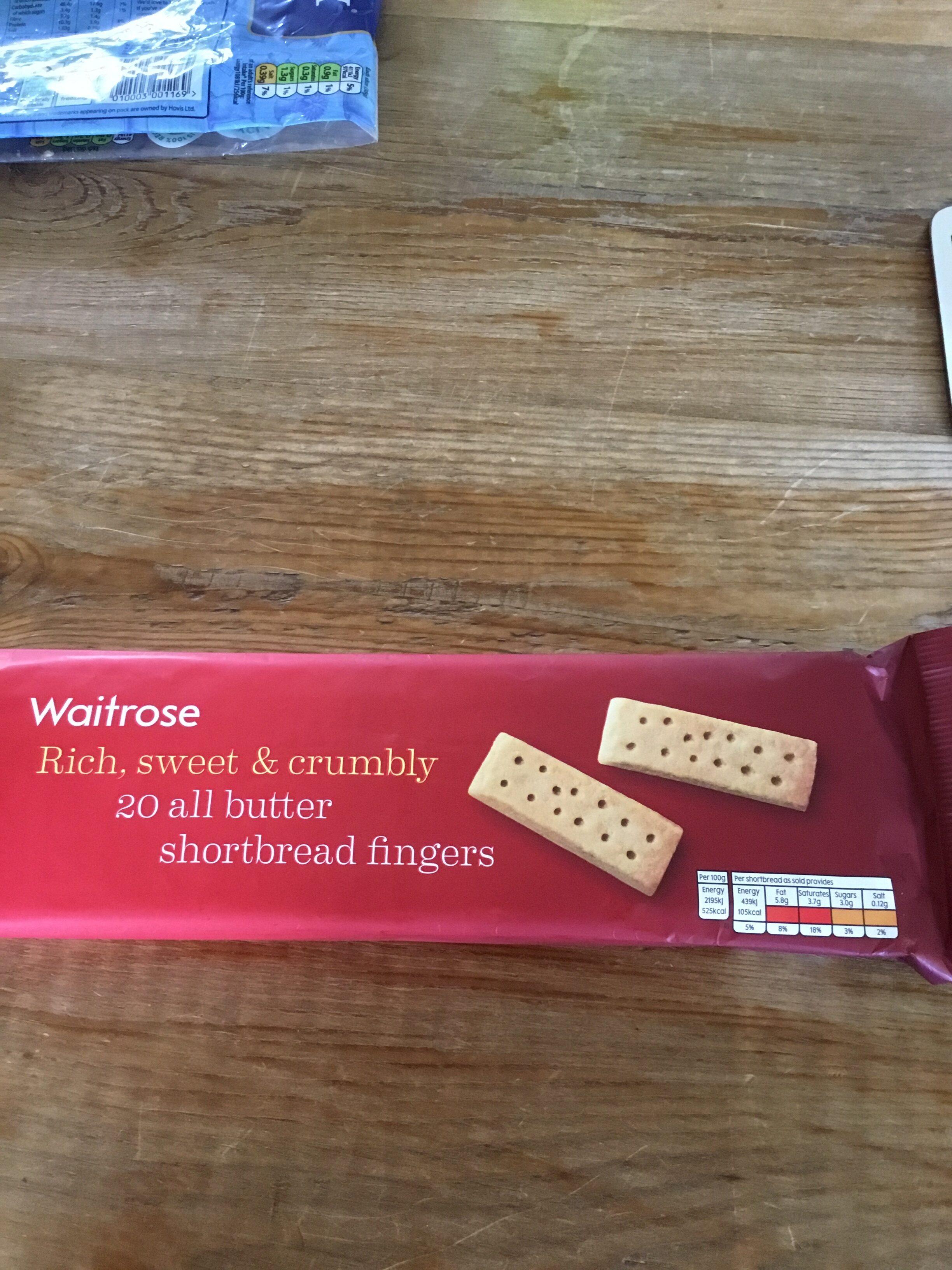 Waitrose shortbread fingers - Product - en