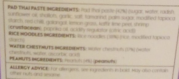 Pad Thai - Ingredients - en