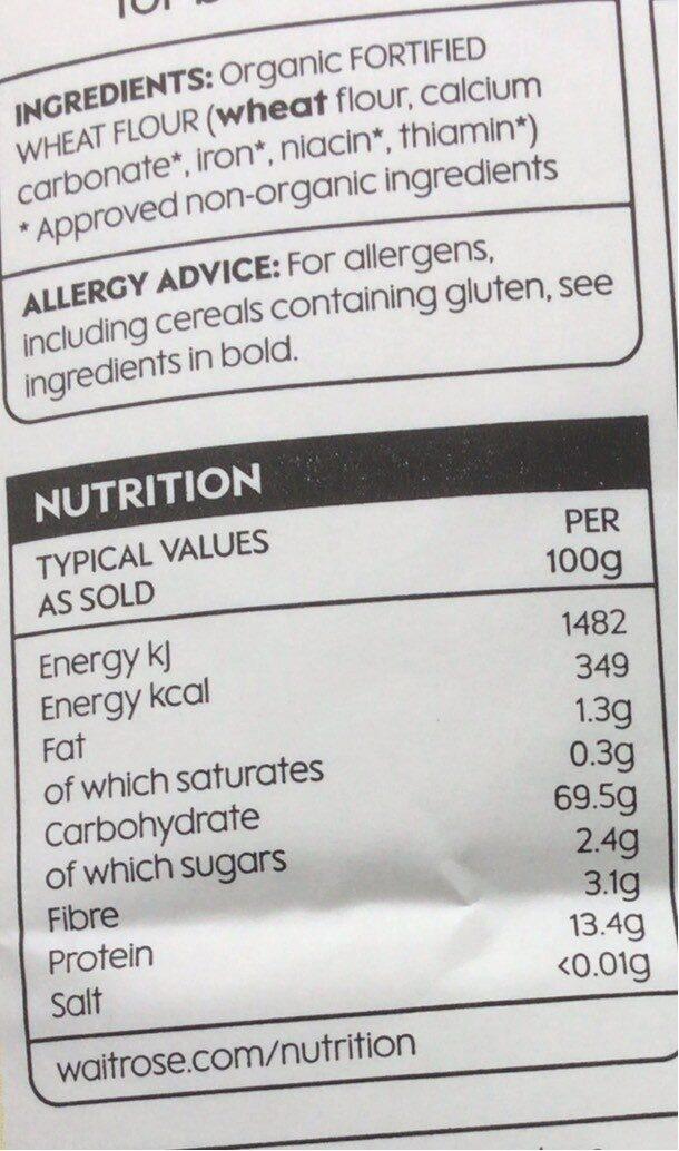 Strong white bread flour - Nutrition facts - en