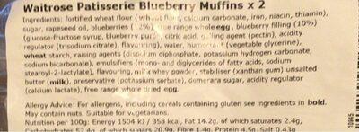 Blueberry muffin - Ingrédients - en