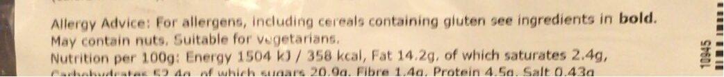 Blueberry muffin - Informations nutritionnelles - en