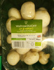 Organic white cup mushrooms - Product