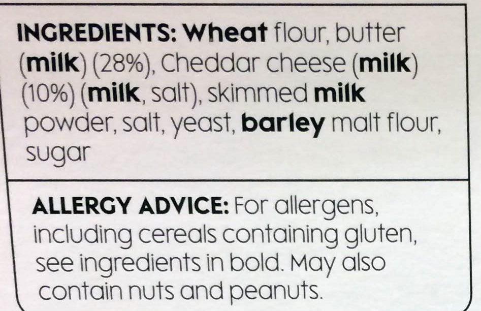 Cheddar Twists - Ingredients - en