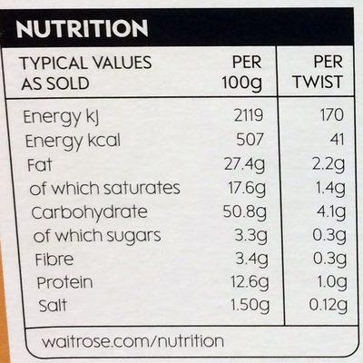 Cheddar Twists - Nutrition facts - en