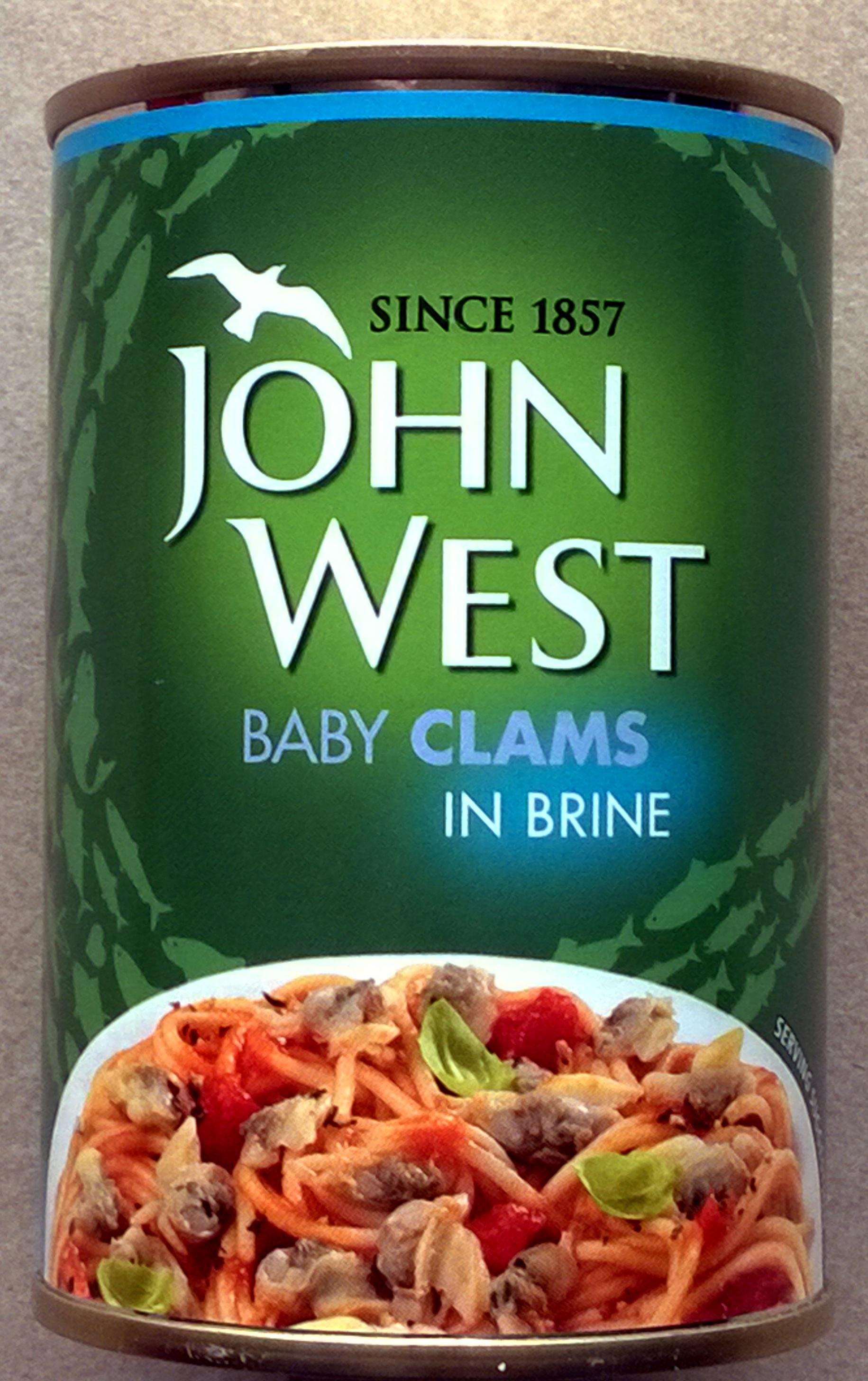 John West Baby Clams In Brine 280 G 142 G Net