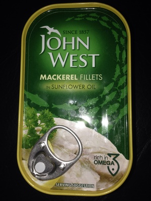Mackerel fillets in sunflower oil - Product
