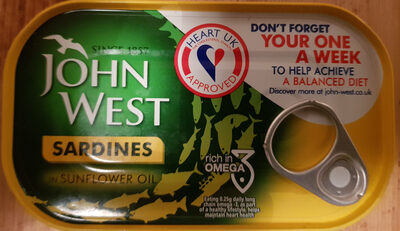 John West Sardines Sunflower Oil - Product