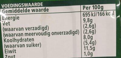 John West Makrel Filets - Voedingswaarden - nl
