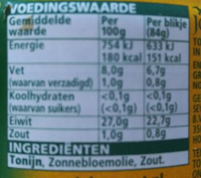 john west tonijnstukken - Ingrediënten