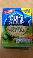 Cup a Soup Cream of Vegetable - Product