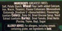 12 vegetable stock cubes - Ingredients