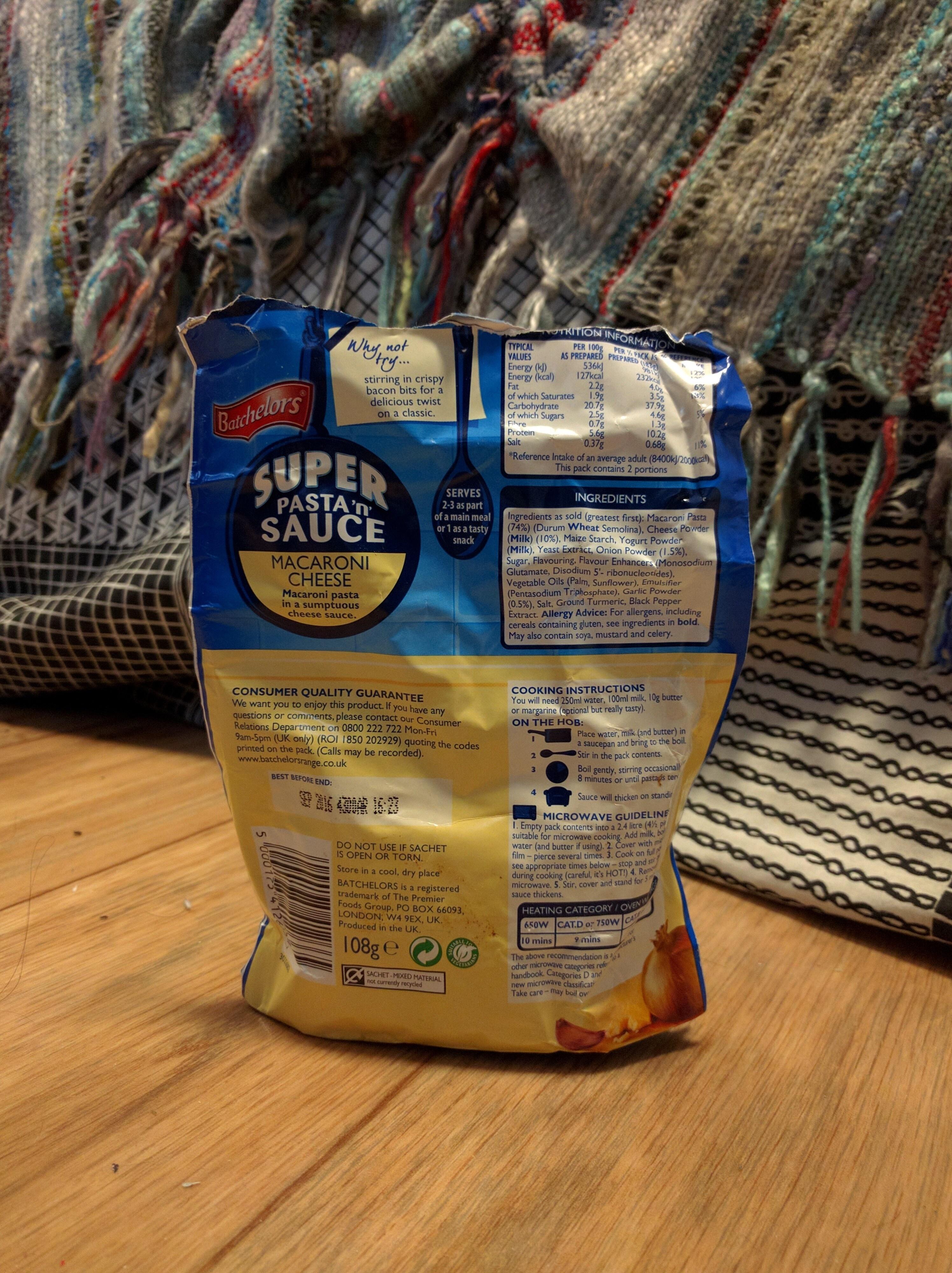 Super Pasta 'n' Sauce - Nutrition facts - en