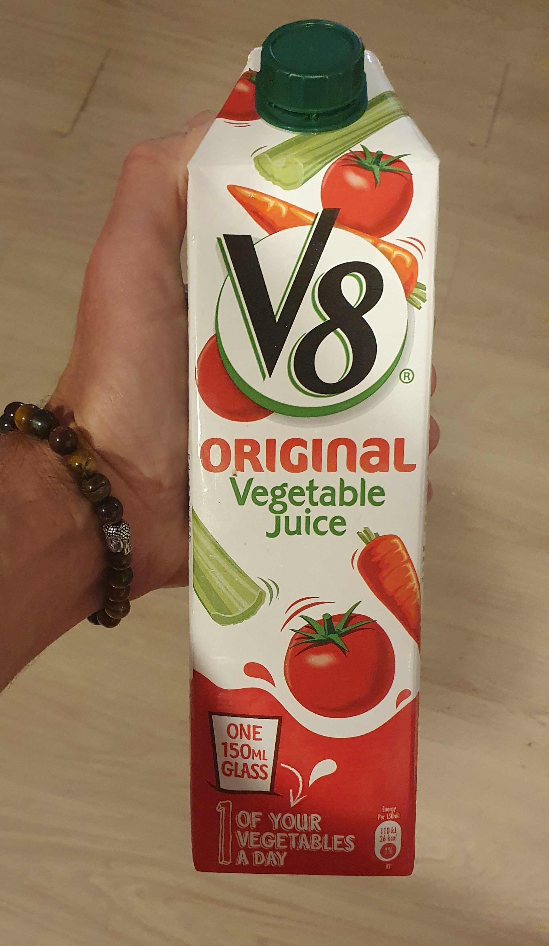 V8 Original Vegetable Juice Tetra Pak 1L - Product - fr