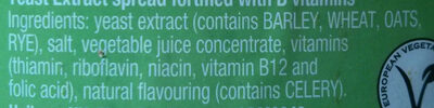 Marmite Yeast Extract - Ingredients - en