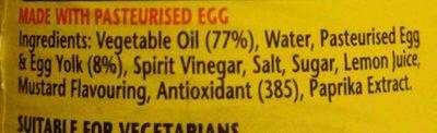 Real Mayonnaise - Ingredients - en