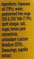 Real Mayonnaise - Ingrediënten - en