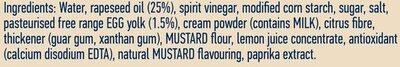 Light Mayonnaise - Ingrédients - en