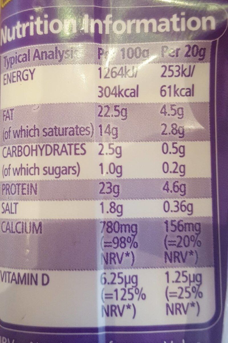 Cheesestrings 4 pack - Valori nutrizionali - en