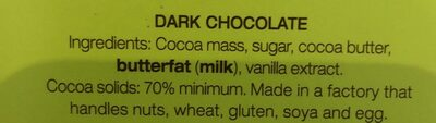 Menier Swiss Dark Chocolate - Ingrediënten - en
