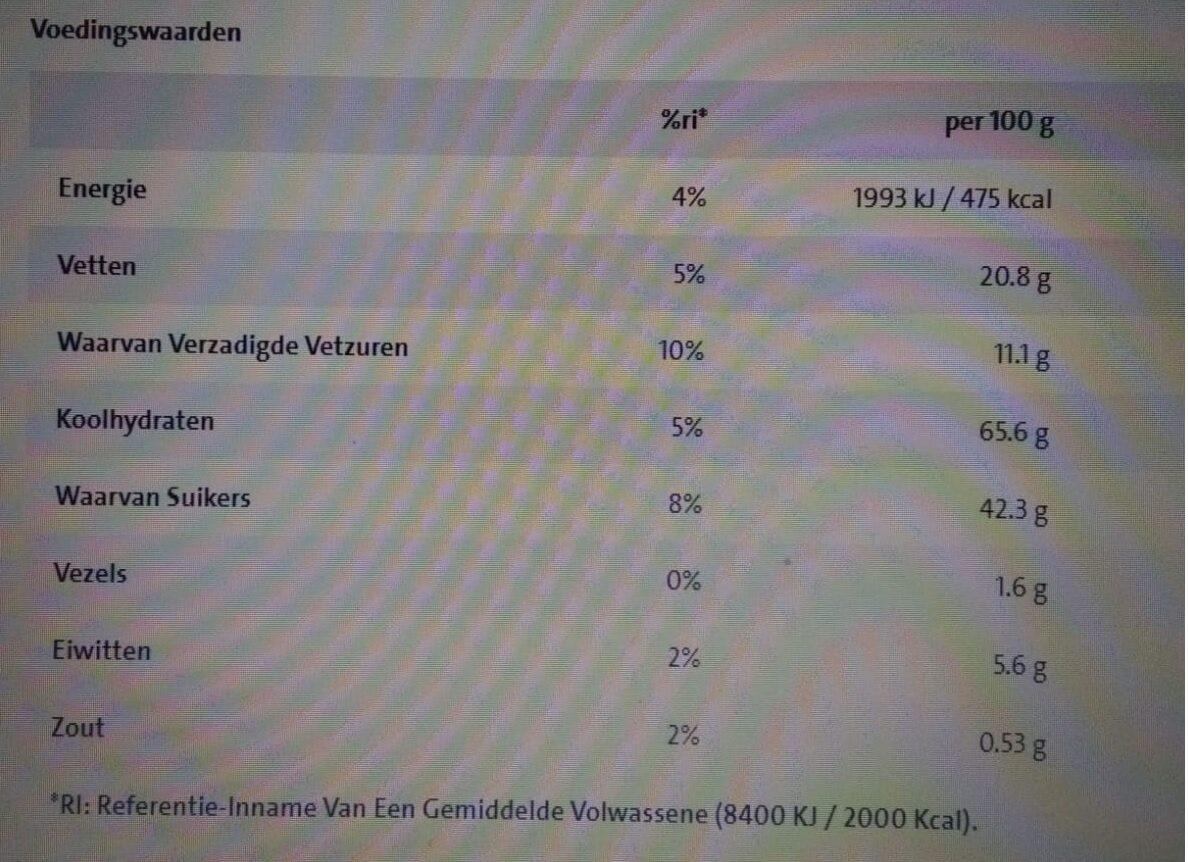 Nestlé Barretes Lion Mini - Informations nutritionnelles - nl