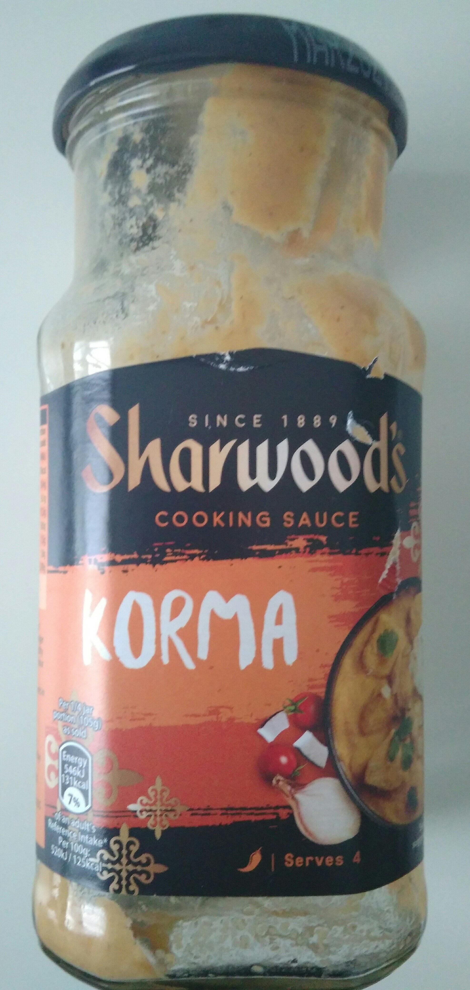 Korma cooking sauce - Product