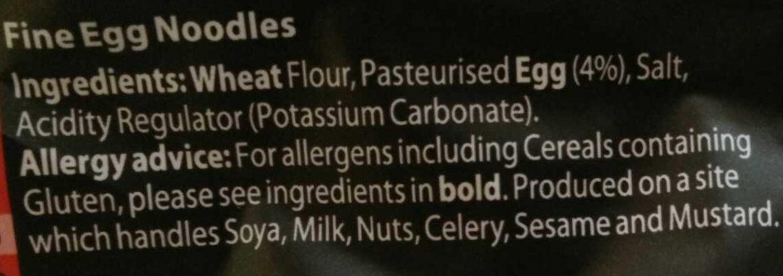 Fine Egg Noodles - Ingredients - en