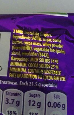 Cadbury Twirl - Ingrédients