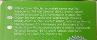 Thé Vert Matcha Myrtille - Ingredients - fr