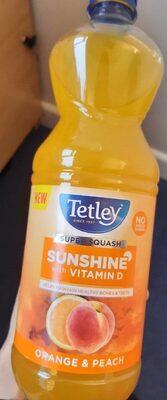 Tetley Sunshine with vitamin D - orange and peach - Product