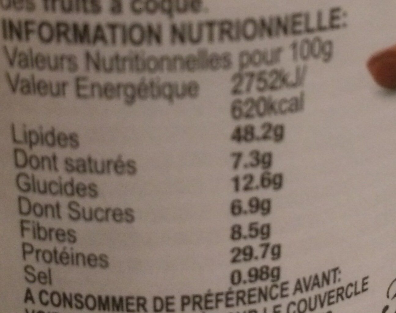 Crunchy Peanut Butter - Informations nutritionnelles - fr