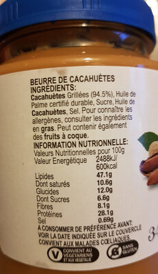 Peanut Butter Smooth - Ingredienti - fr