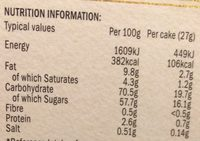 Mr. Kipling French Fancies - Nutrition facts