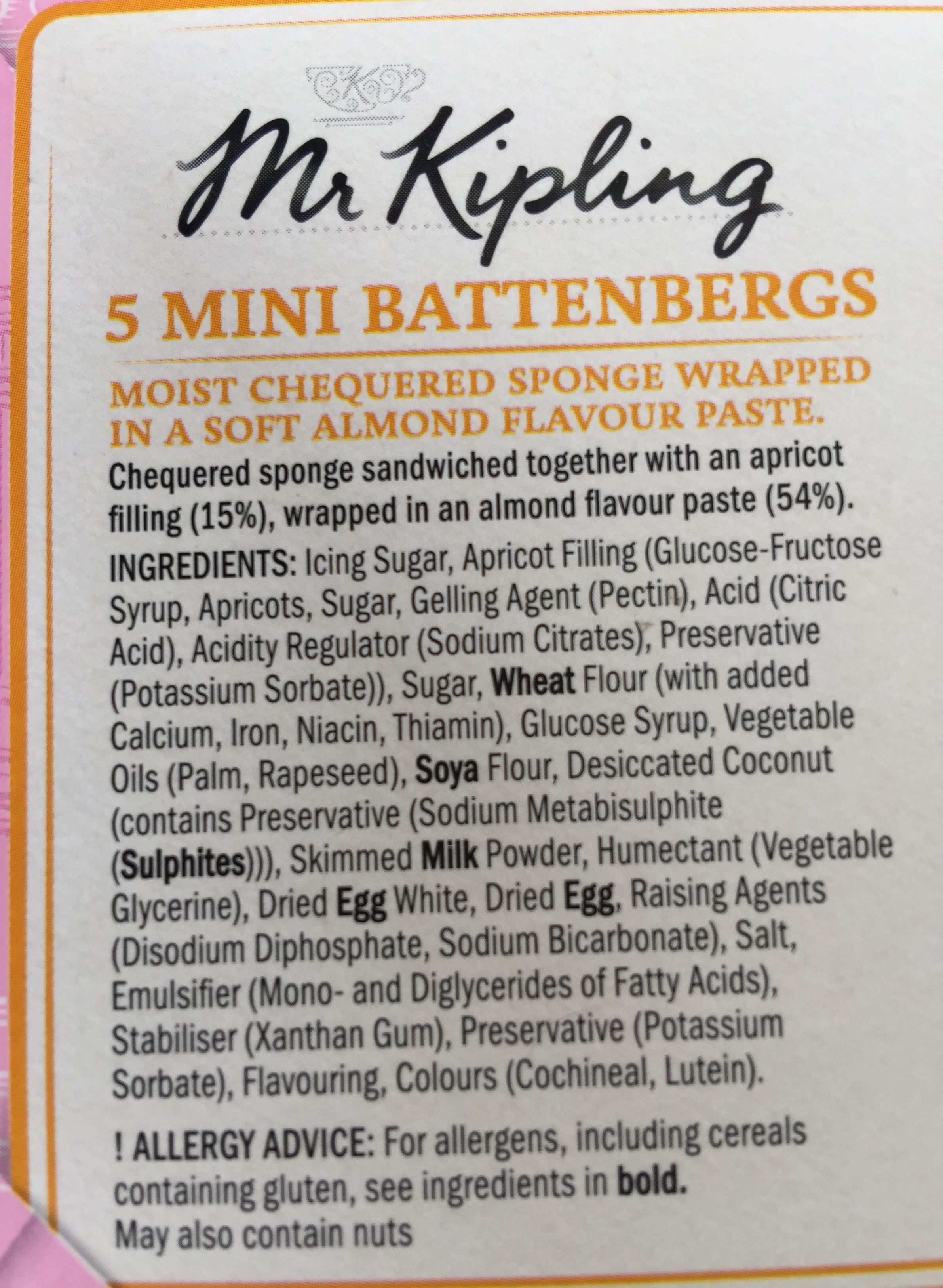 5 Mini Battenbergs - Ingredients