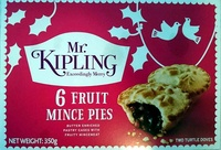 6 Fruit Mince Pies - Product