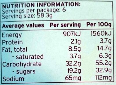 6 Fruit Mince Pies - Nutrition facts - en