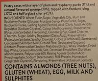 Mr Kipling 6 Cherry Bakewells - Ingredients - en