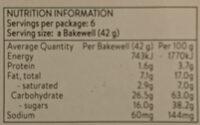 Mr Kipling 6 Cherry Bakewells - Nutrition facts - en