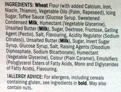 6 toffee terror whirls - Ingredients