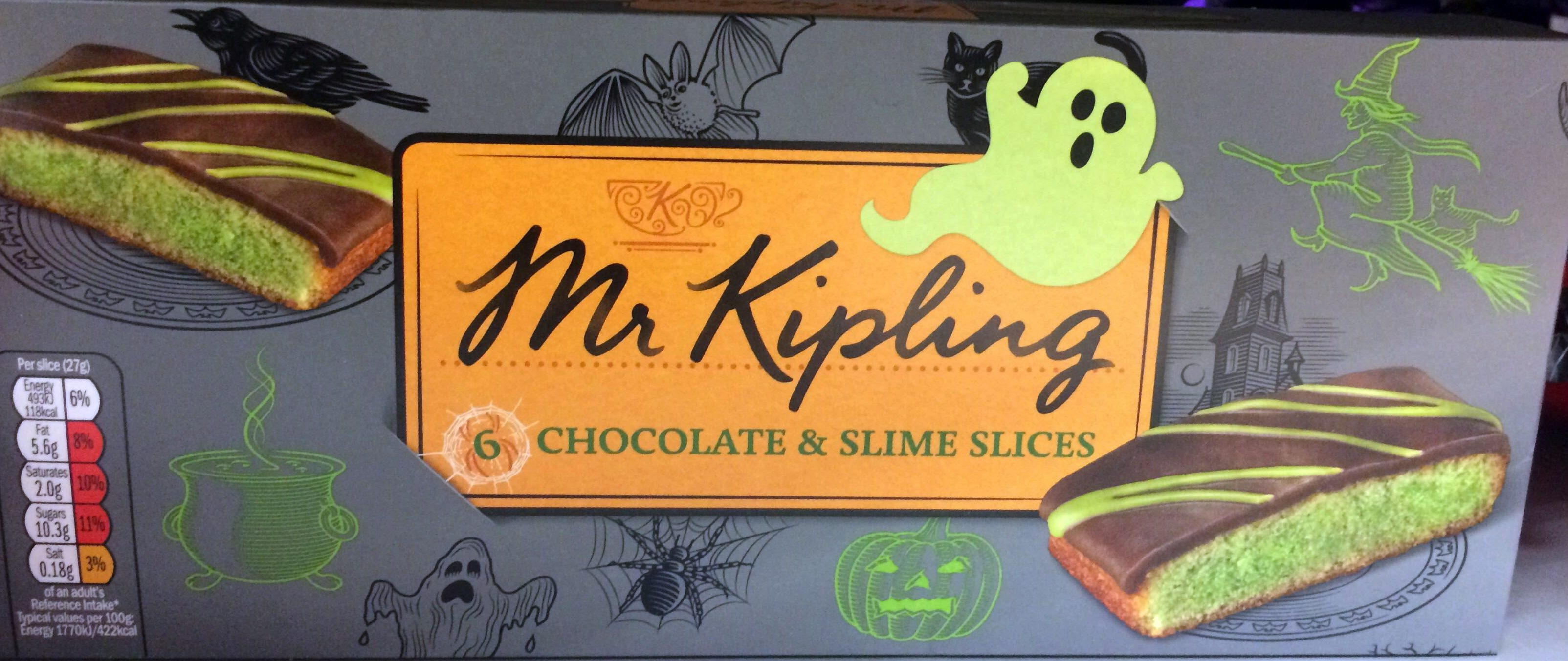 6 chocolate & slime slices - Product
