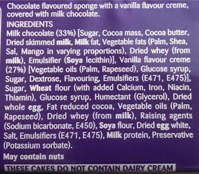 Mini Rolls Milk Chocolate - Ingrédients - fr