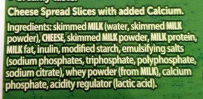 Cheese Slices - Ingredients - en